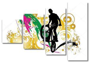 BMX rider Иллюстрация