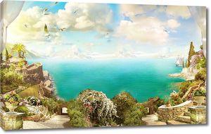 Вид с живописной террасы на море