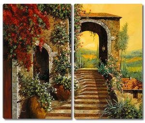 Лестница и арка