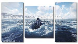Российских атомных подводных лодок вид спереди 2