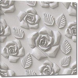 3D Цветы, бесшовные