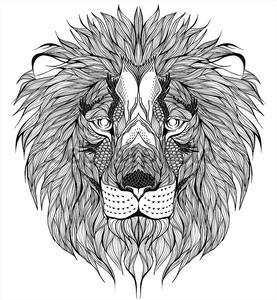 Лев голову тату