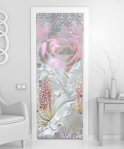 Абстракция с цветами и узорами
