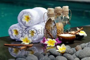 в спа-салоне, концепция в роскошной вилле на острове Бали