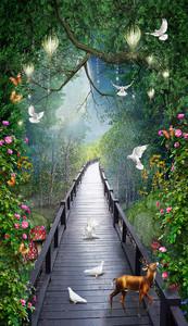 Олененок в сказочном лесу