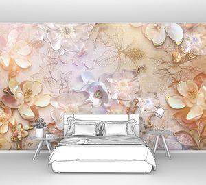 Объемная цветочная композиция