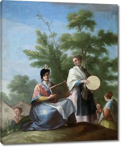 Байеу и Субиас Рамон. Девушки играют на бубнах