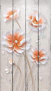 Цветки лотоса с бусинами