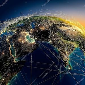 главных воздушных маршрутов в Ближнем Востоке и в Индии