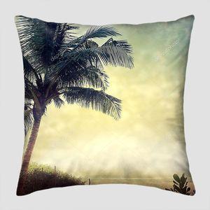 Гранж фон с пальмами