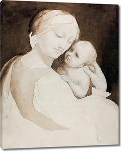 Леонардо да Винчи. Мадонна с младенцем и фрагмент женского торса