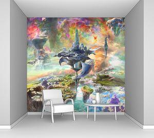 Невероятная фреска с множеством космических островов