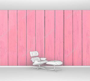 Розовый фон из натурального дерева
