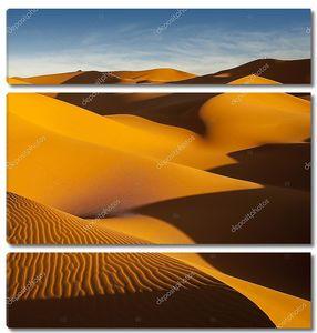 Ливийського Сахар. Дюны. Песок структура на закате.