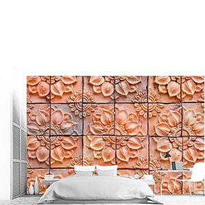 Красный глянцевый мозаика керамики материала фон