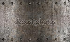 Металлические пластины или доспехи текстуры с заклепками