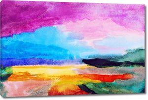 Абстрактная красочная акварельная живопись