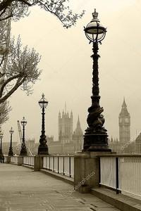 Биг Бен и здание парламента, смотреть в тумане