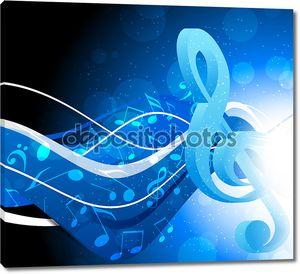 Фон с g-скрипичный ключ