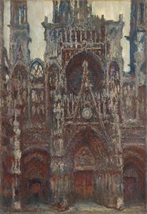 Клод Моне. Руанский собор, вечер, гармония в коричневом