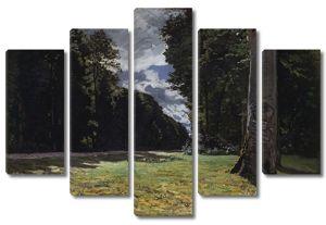 Моне Клод. Дорога в леса Фонтенбло, 1865