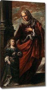 Камило  Франсиско  (приписывается). Св Анна с маленькой Девой Марией