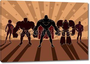 команда супергероя