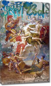 Эклектика. Римское искусство на фоне современных граффити