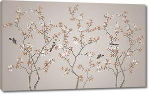 Деревца с птичками